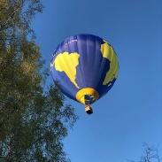 Suddenly a balloon