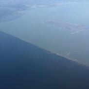 IJsselmeer/Markermeer boundary was quite distinct today