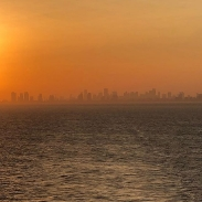 Sun setting on Miami