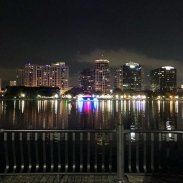 Night time downtown Orlando