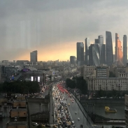 Moscow welcomes us back with a summer storm